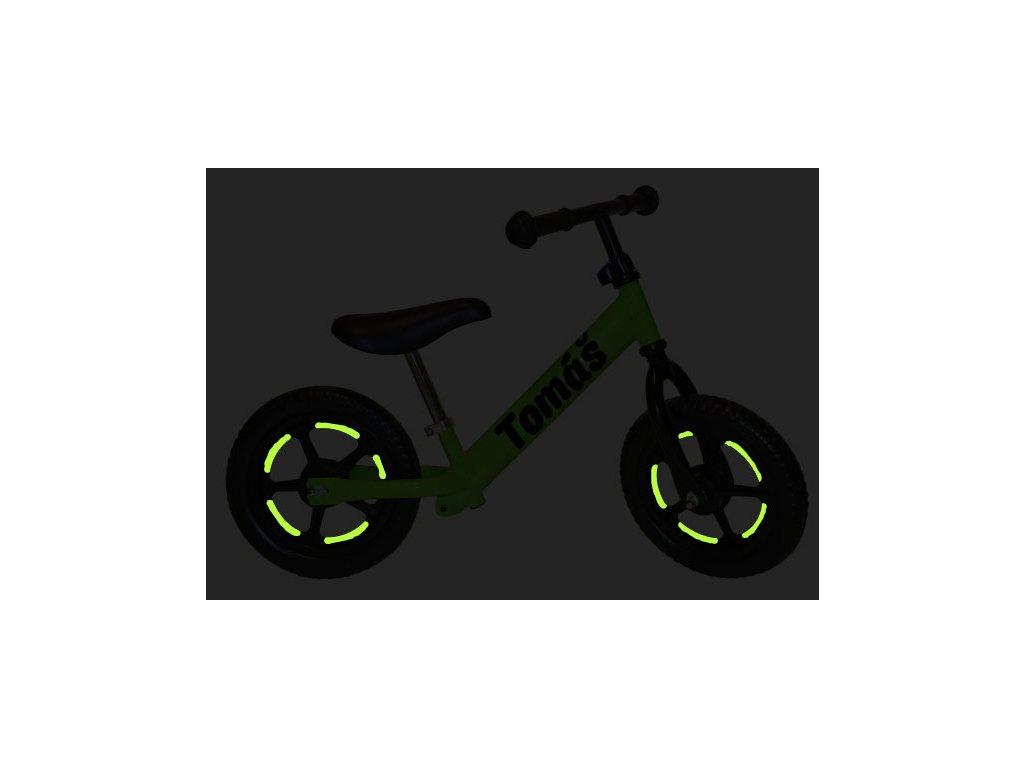reflexné pásiky na kolesá - doplnok k odrážadlu