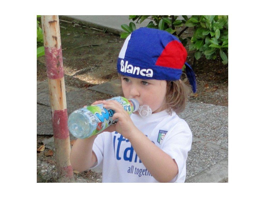 detská pirátka plátená s menom - slovenské farby