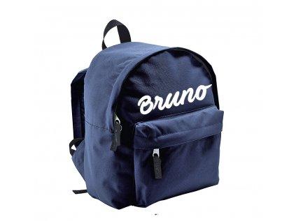 ruksak s menom - menší - tmavomodrý