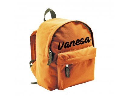 ruksak s menom - menší - oranžový