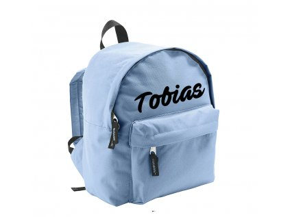 ruksak s menom - menší - svetlomodrý