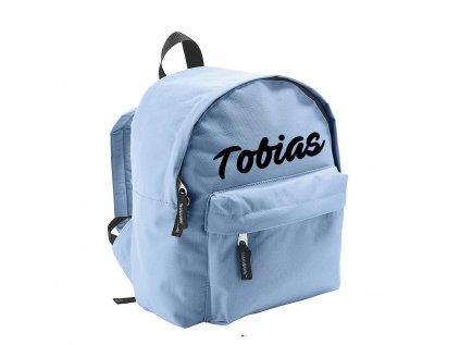 ruksak s menom - svetlomodrý