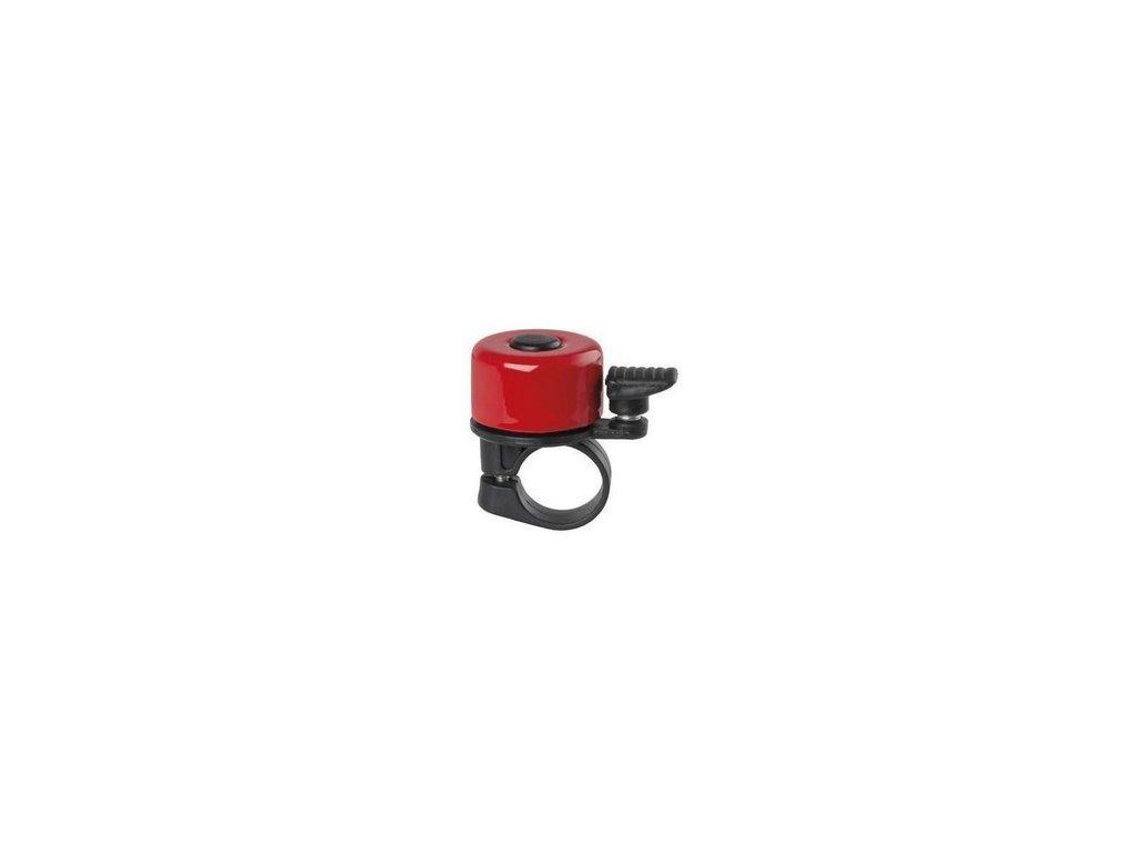 zvonek na odrážedlo - metal malý červený
