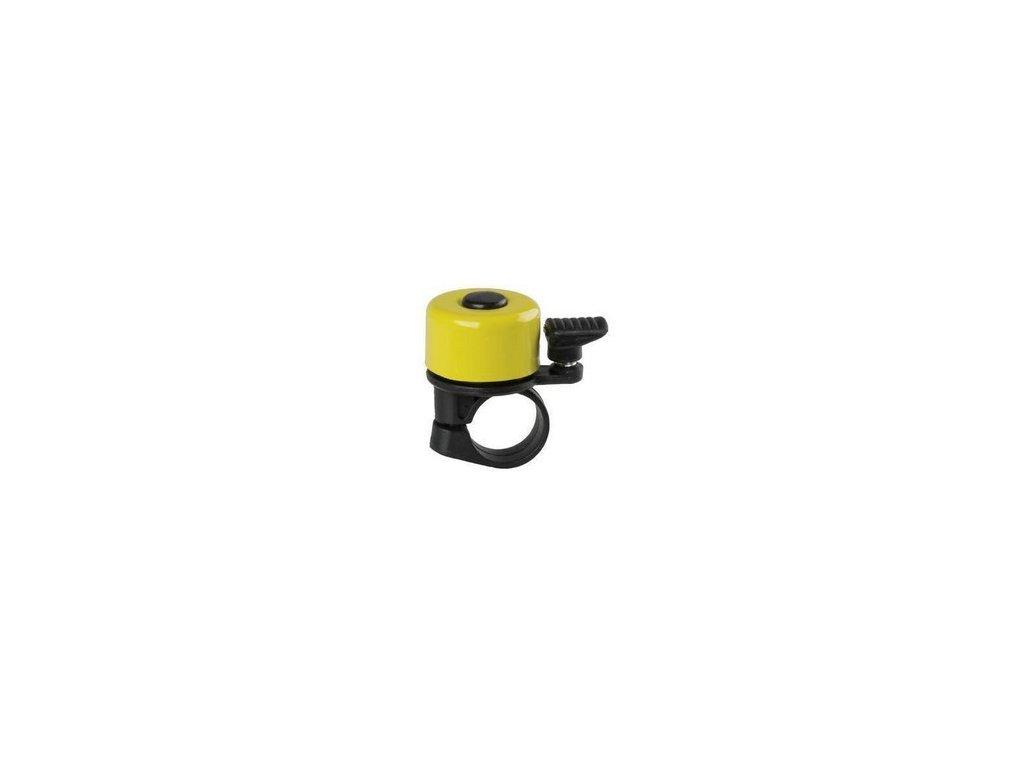 zvonek na odrážedlo - metal malý žlutý
