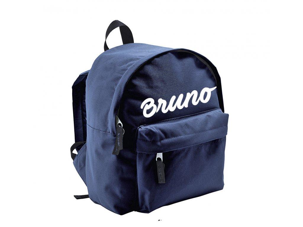 batoh se jménem - menší - tmavě modrý