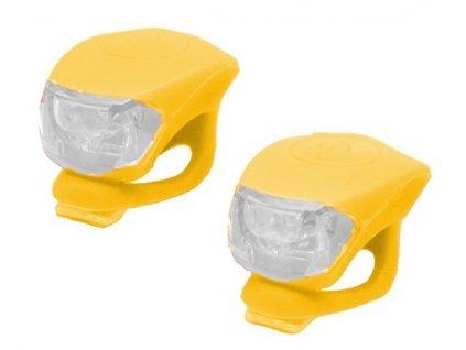 blikající světélka na odrážedlo - 2 ks - žluté