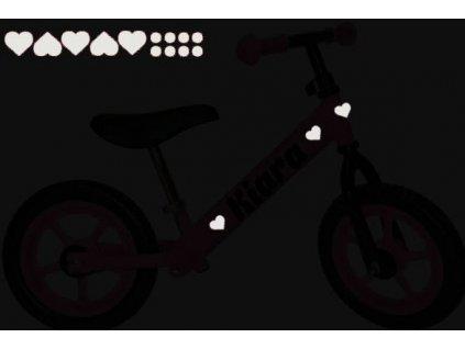 reflexní nálepky na odrážedlo mini symbol - set 3 x 23 cm