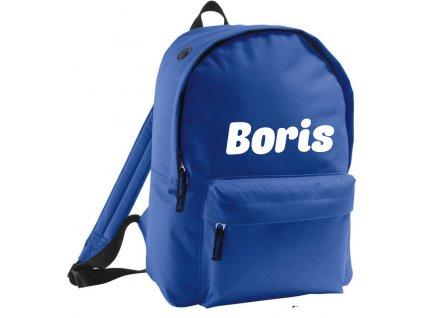 batoh se jménem - větší - royal modrý