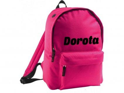 batoh se jménem - větší - růžový
