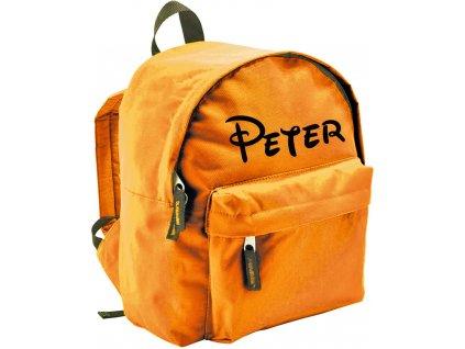 batoh se jménem - menší - oranžový