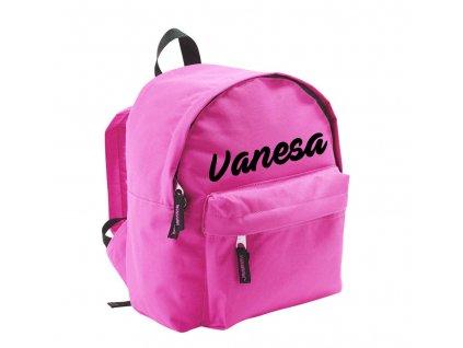 batoh se jménem - menší - růžový