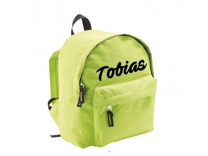 batoh se jménem - menší - zelený