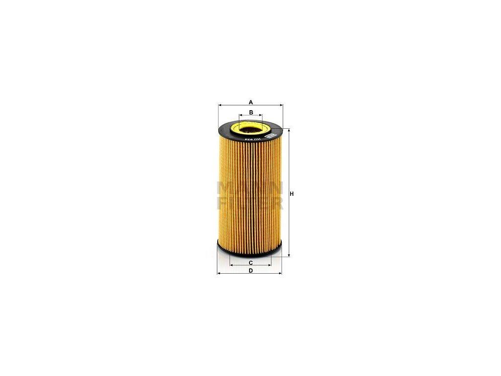 Olejový filtr MANN-FILTER HU 934 x