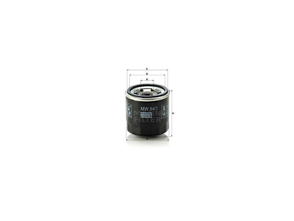 Olejový filtr MANN-FILTER MW 64/1