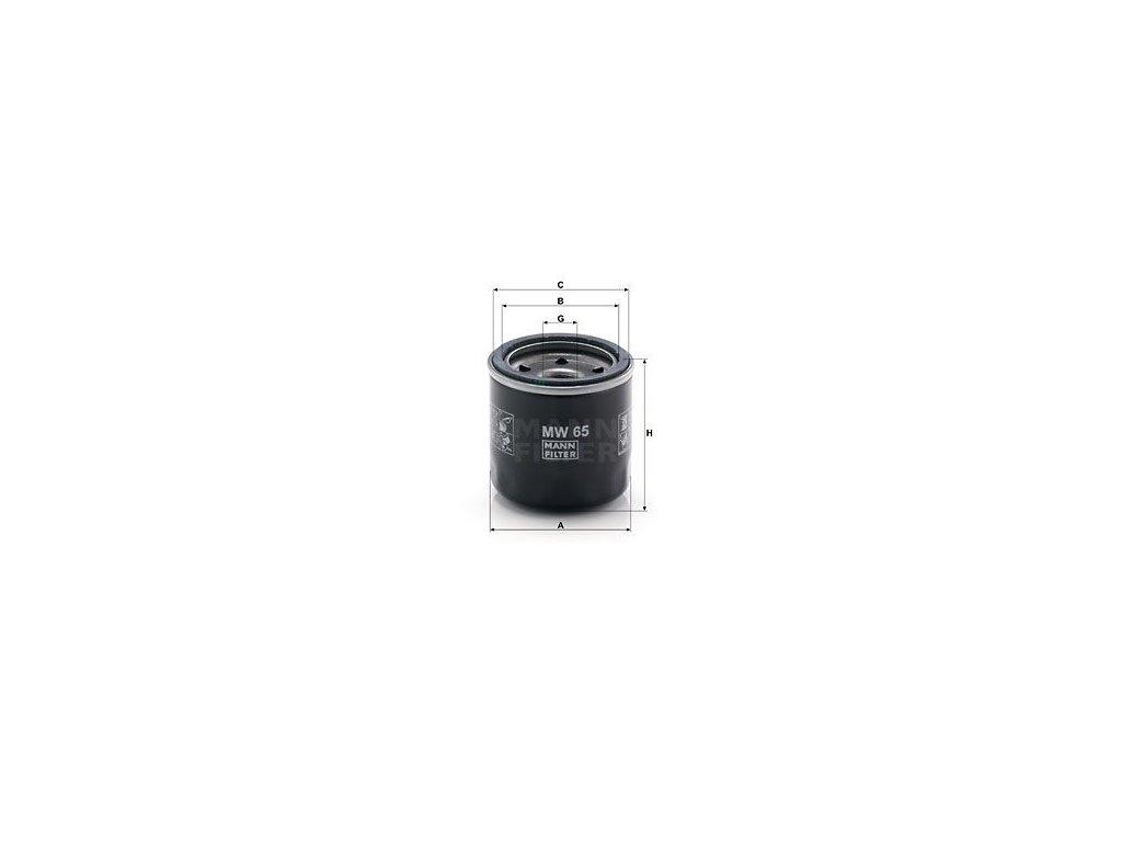 Olejový filtr MANN-FILTER MW 65