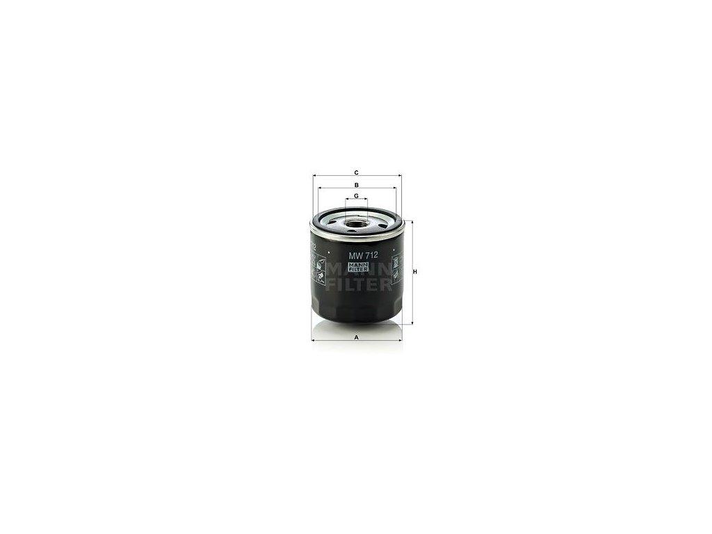 Olejový filtr MANN-FILTER MW 712