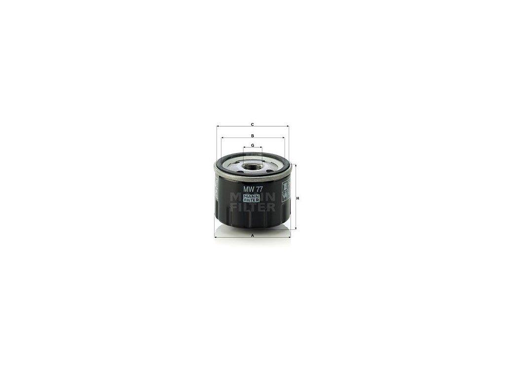 Olejový filtr MANN-FILTER MW 77