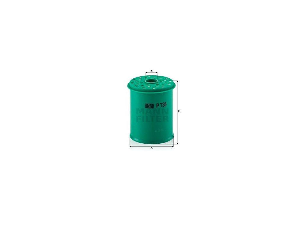Palivový filtr MANN-FILTER P 738 x