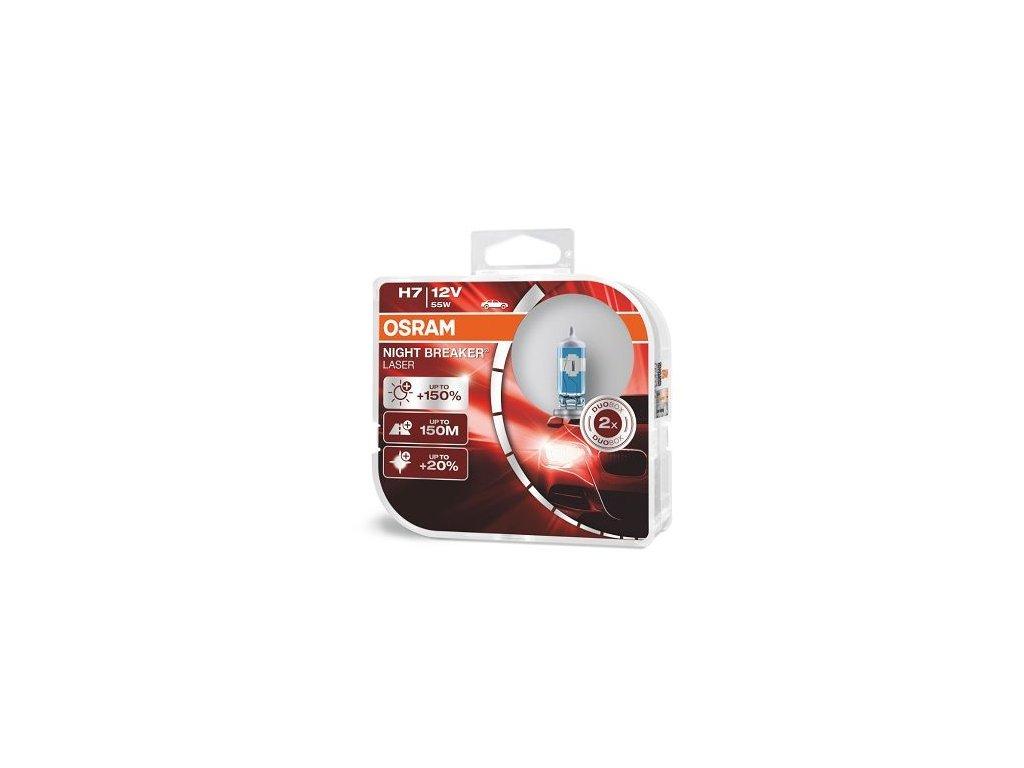 Osram Night Breaker Laser H7 PX26D 12V 55W 2ks 64210NL-HCB