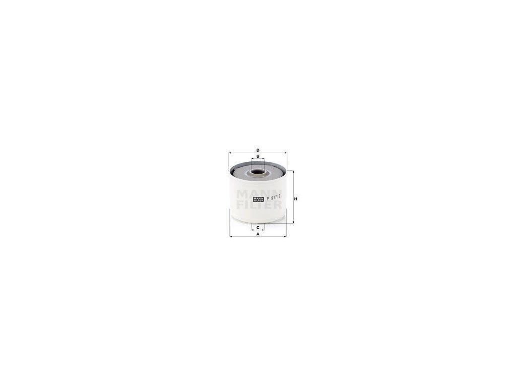 Palivový filtr MANN-FILTER P 917/2 x