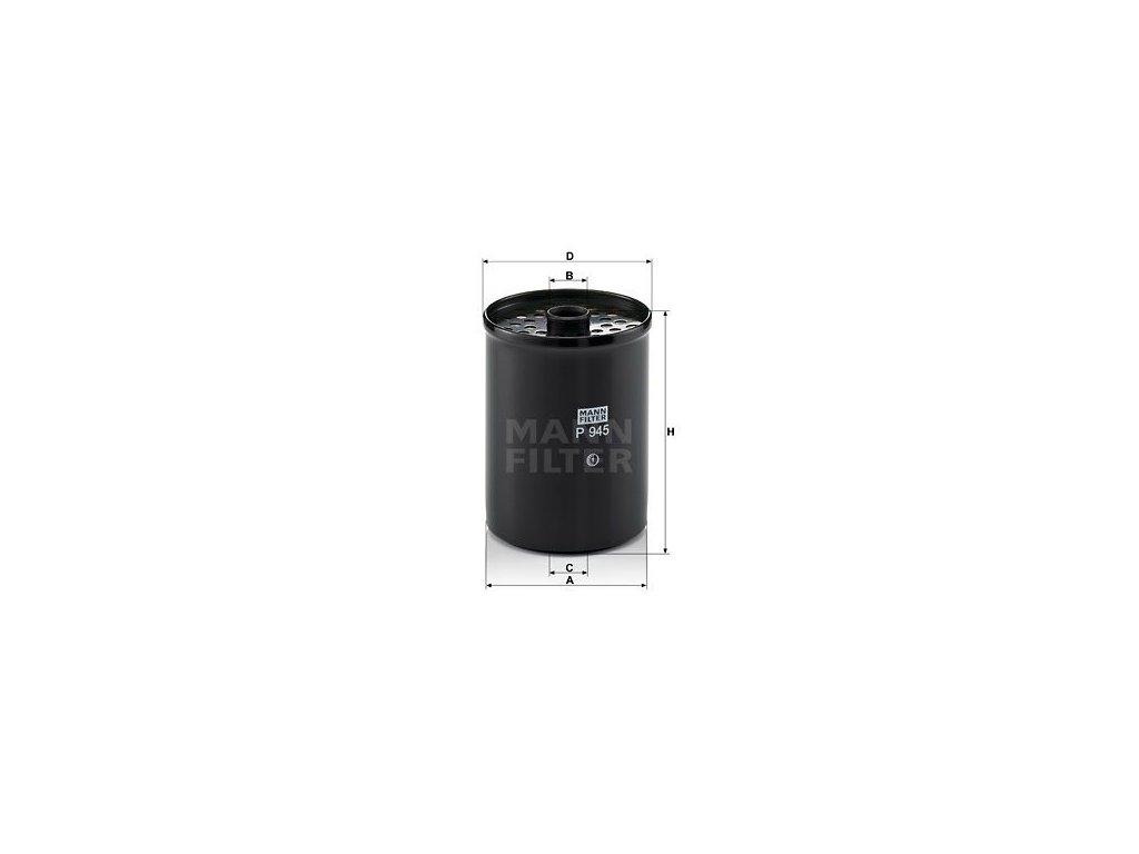 Palivový filtr MANN-FILTER P 945 x