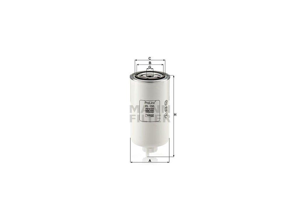 Palivový filtr MANN-FILTER PL 250