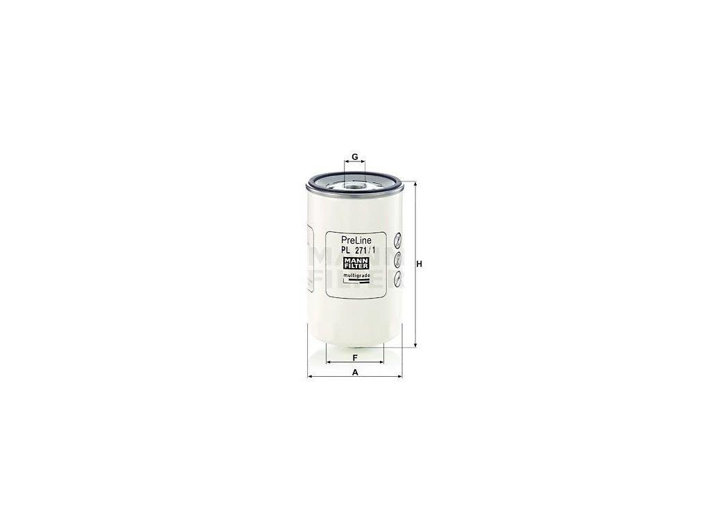 Palivový filtr MANN-FILTER PL 271/1