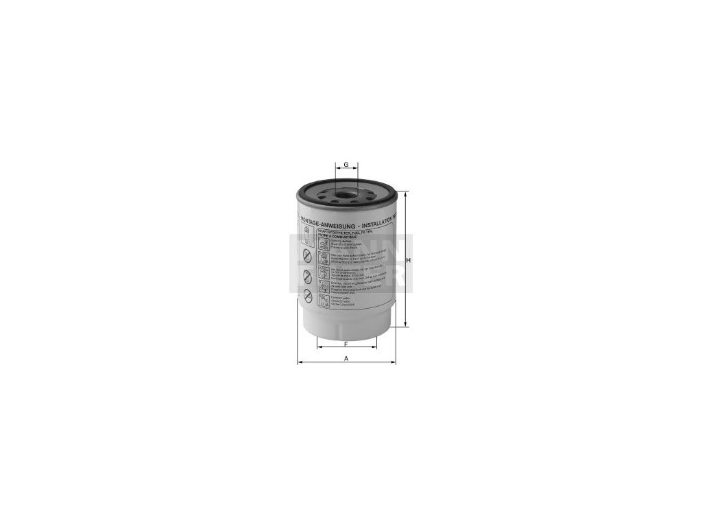 Palivový filtr MANN-FILTER PL 420/1 x