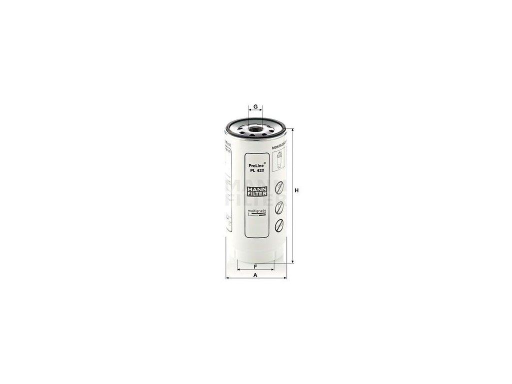 Palivový filtr MANN-FILTER PreLine PL 420 x