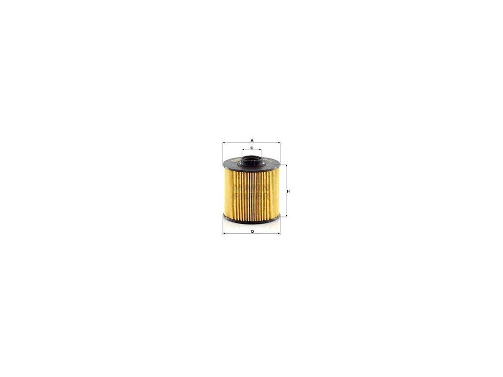 Palivový filtr MANN-FILTER PU 10 004 z
