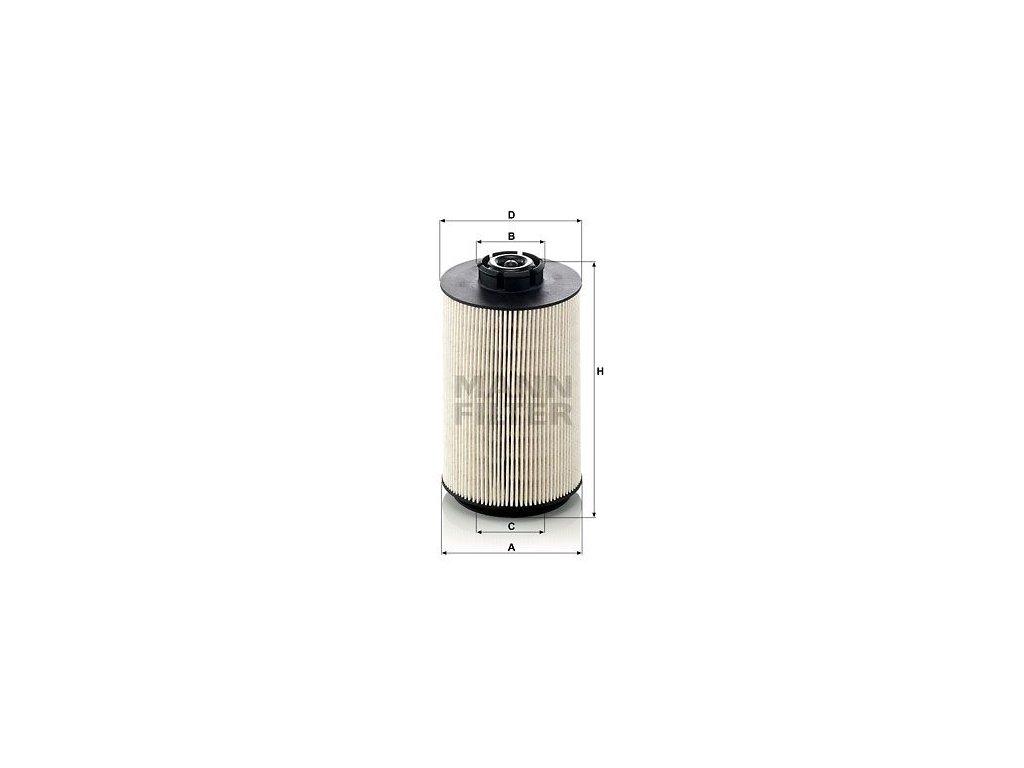 Palivový filtr MANN-FILTER PU 1058 x