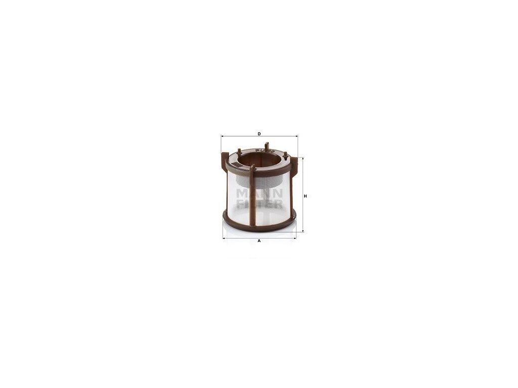 Palivový filtr MANN-FILTER PU 50 z
