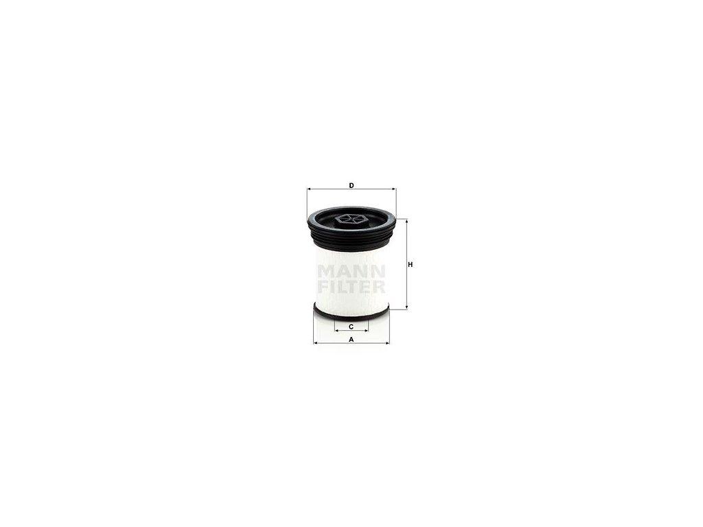 Palivový filtr MANN-FILTER PU 7006