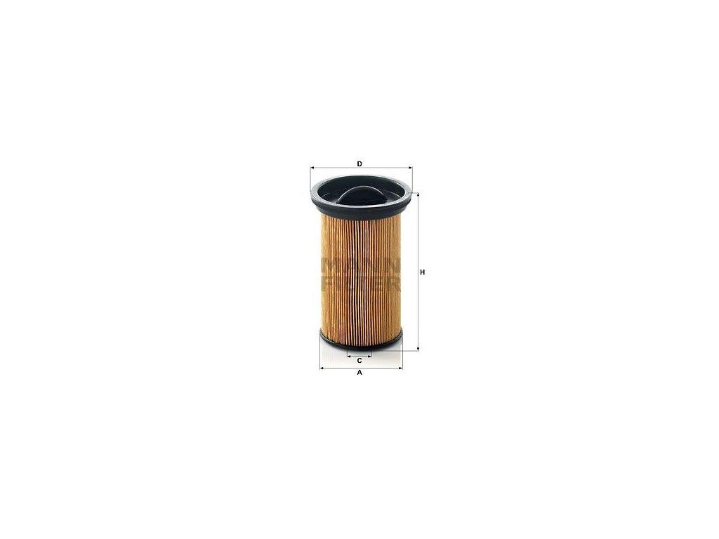 Palivový filtr MANN-FILTER PU 742