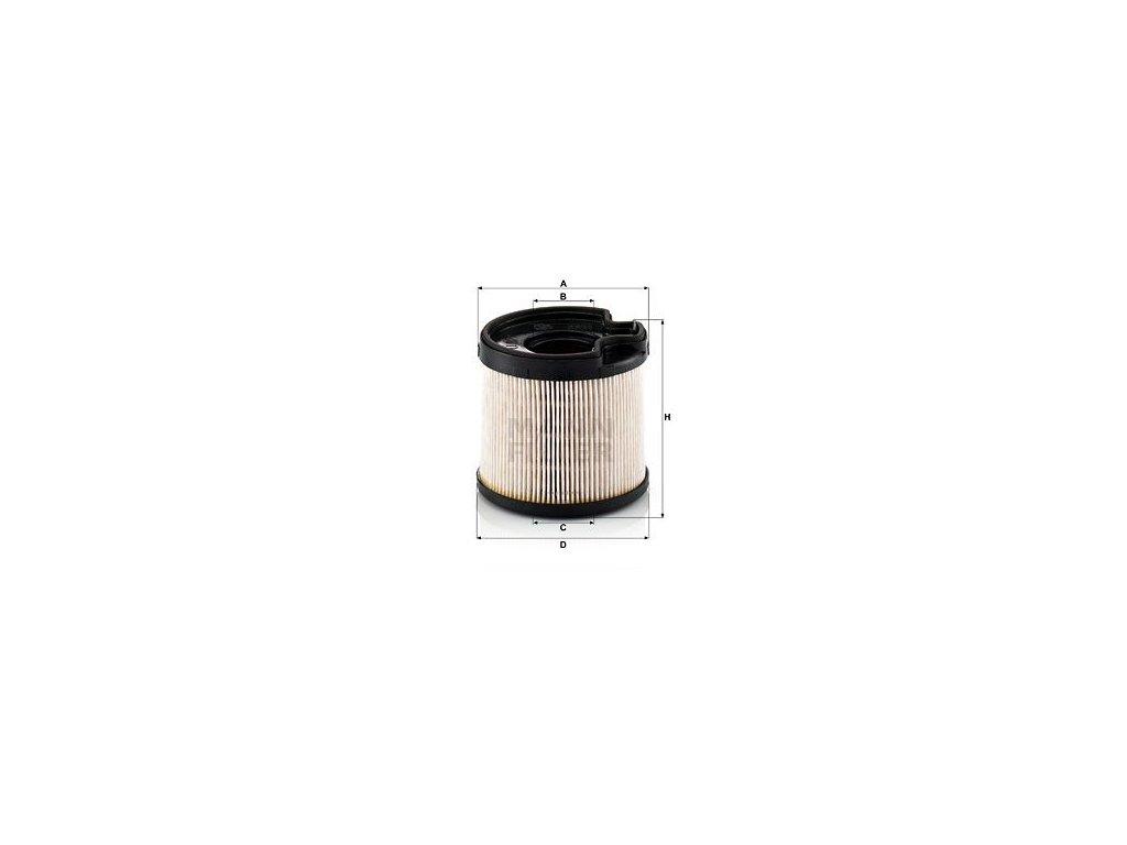 Palivový filtr MANN-FILTER PU 922 x