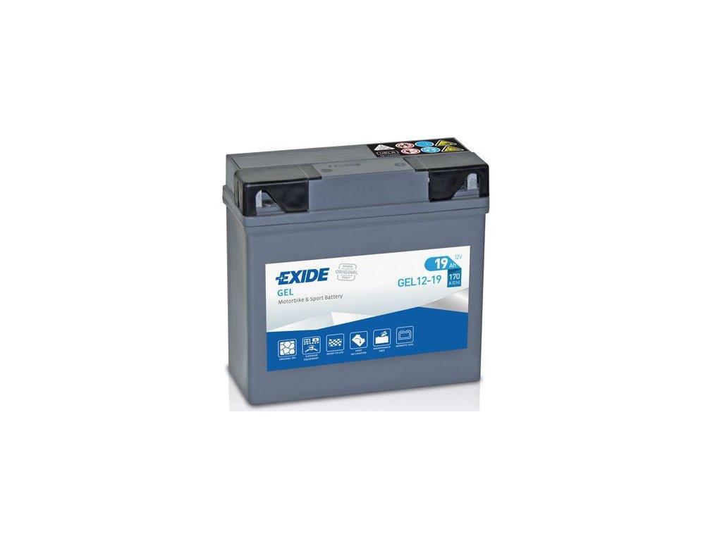 Startovací baterie EXIDE EXIDE GEL GEL12-19