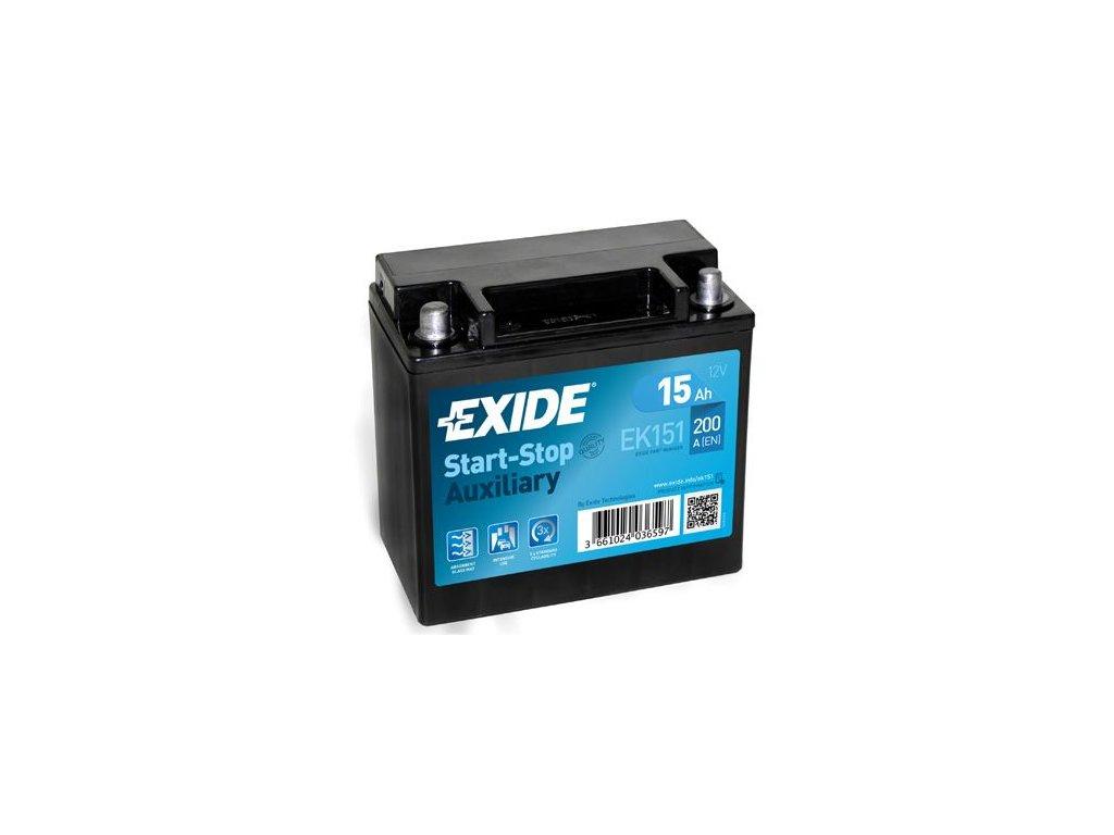 Startovací baterie EXIDE Start-Stop Auxiliary EK151