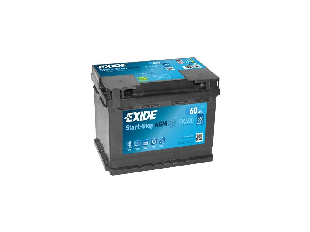 Startovací baterie EXIDE AGM EK600