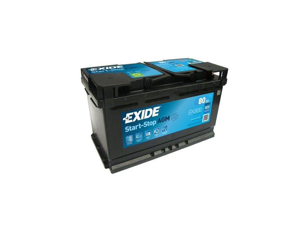 Startovací baterie EXIDE AGM EK800