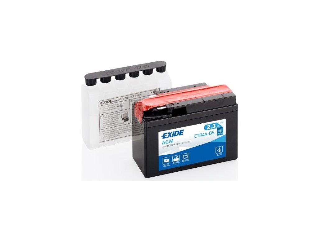 Startovací baterie EXIDE EXIDE AGM ETR4A-BS