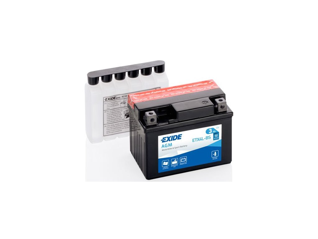 Startovací baterie EXIDE EXIDE AGM ETX4L-BS
