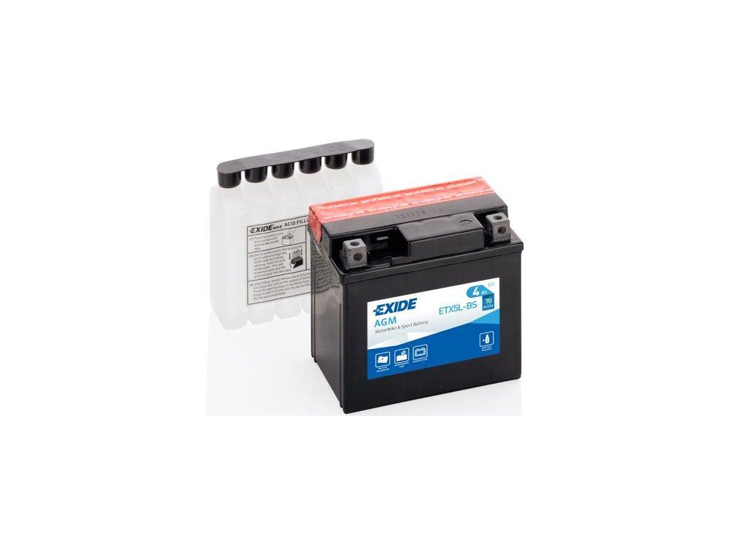 Startovací baterie EXIDE EXIDE AGM ETX5L-BS