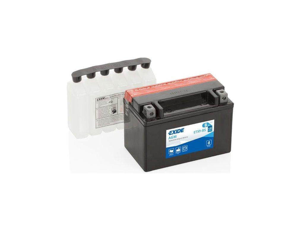 Startovací baterie EXIDE EXIDE AGM ETX9-BS