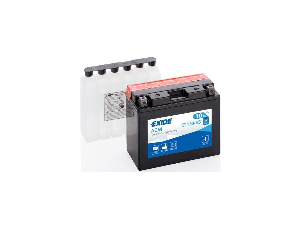 Startovací baterie EXIDE EXIDE AGM ET12B-BS
