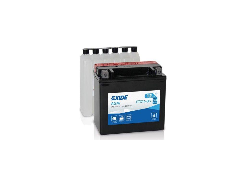 Startovací baterie EXIDE EXIDE AGM ETX14-BS