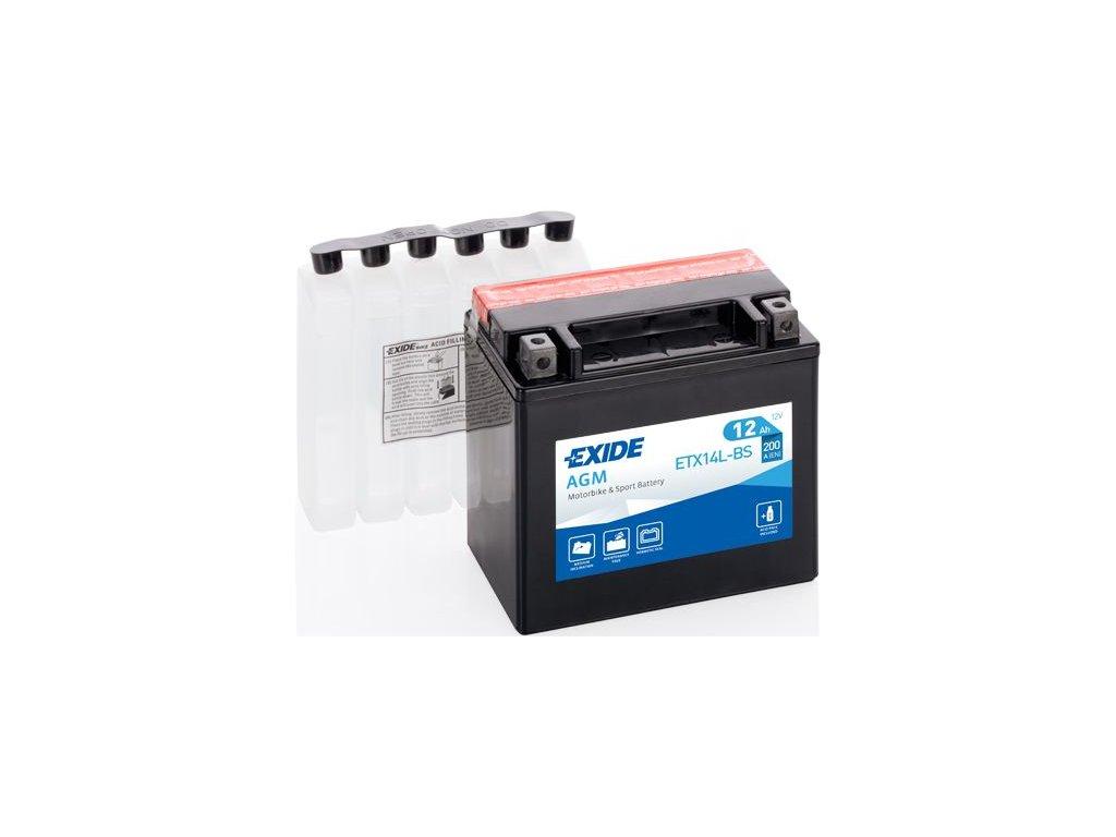 Startovací baterie EXIDE EXIDE AGM ETX14L-BS