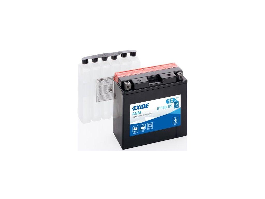 Startovací baterie EXIDE EXIDE AGM ET14B-BS