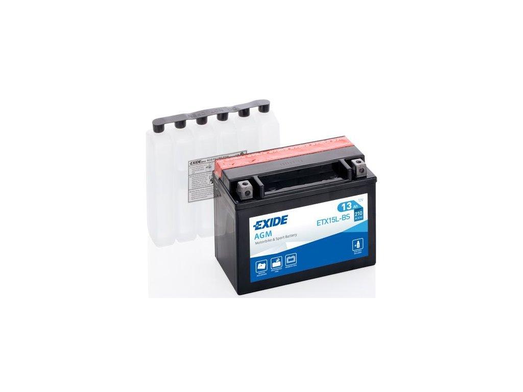Startovací baterie EXIDE EXIDE AGM ETX15L-BS
