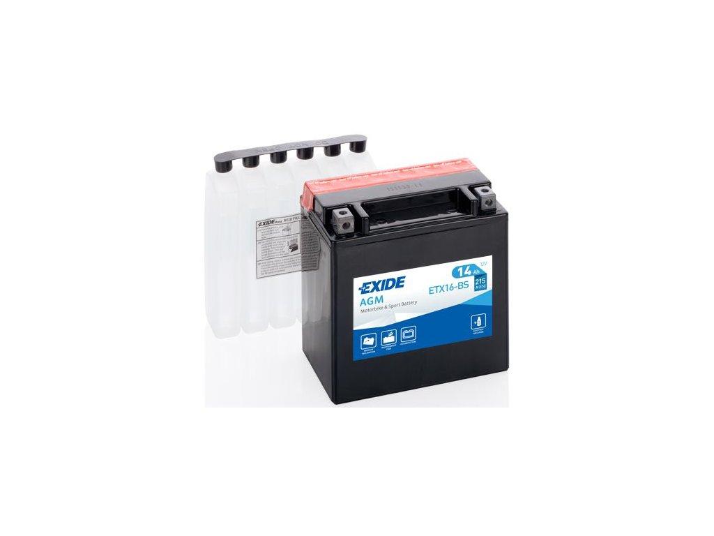 Startovací baterie EXIDE EXIDE AGM ETX16-BS