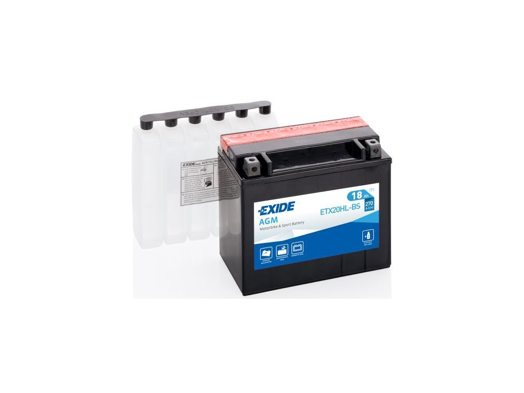 Startovací baterie EXIDE EXIDE AGM ETX20HL-BS
